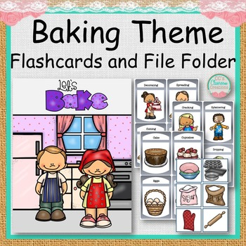 Baking Theme Flash Cards and File Folder