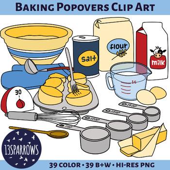 Baking Popovers Clip Art