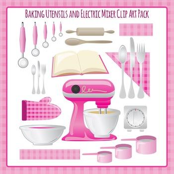 Baking Utensils - Bowls, Electric Mixer, Rolling Pin, Meas