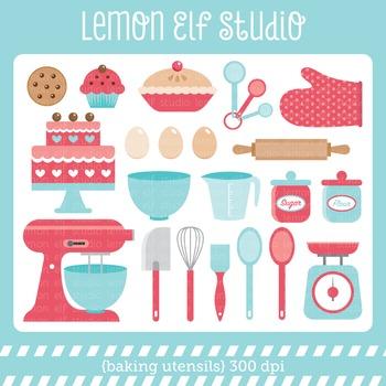 Baking Utensils-Digital Clipart (LES.CL11)