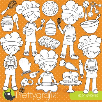 Baking boys stamps commercial use, vector graphics, images