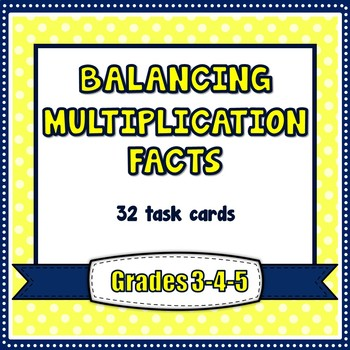 Multiplication Facts Balance Equations