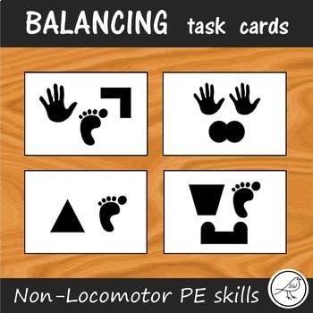 Balance Task Cards  -  Sport / PE -  Stability