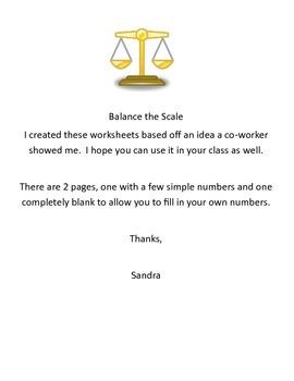 Balance the Scale