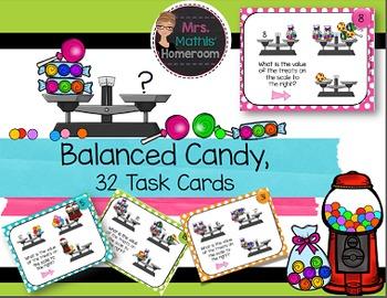 Balanced Candy - 32 Task Cards to Introduce Algebra