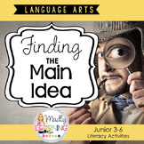 Finding the Main Idea Lesson Pack