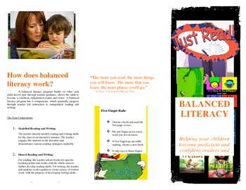 Balanced Literacy Pamphlet for Parents