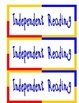 Balanced Literacy Signs for Guided Reading