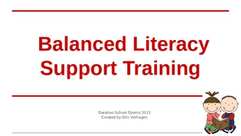 Balanced Literacy Support Training
