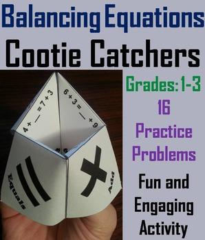 Balancing Equations Practice/ Balancing Equations Game 1st