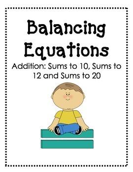 Balancing Equations: Addition Pack
