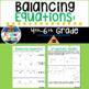 Balancing Equations Lesson for 4-6 grade Math (shapes, num
