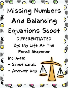 Balancing Equations and Finding the Missing Number Differe