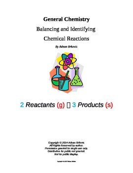 Balancing and Identifying Chemical Reactions