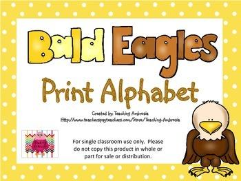 Bald Eagle Print Alphabet by Teaching Ambrosia