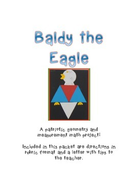 Baldy the Eagle,  A Patriotic Geometric and Measurement  M