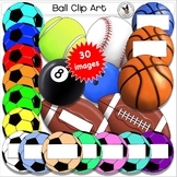 Ball Clip Art Set. A Realistic artistic collection of  var