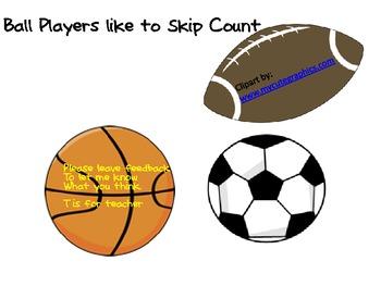 Ball Players like to Skip Count Freebie