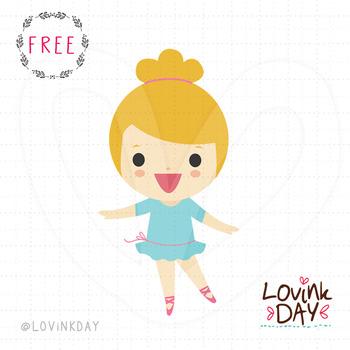 Ballerina - FREE clip art