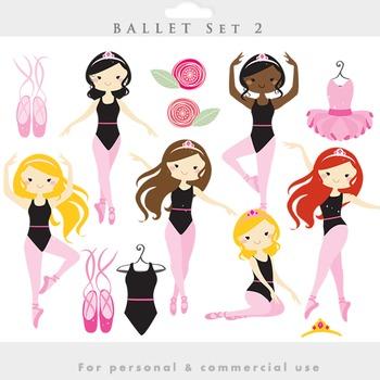 Ballerina clipart - clip art girl ballet dancing dance dre