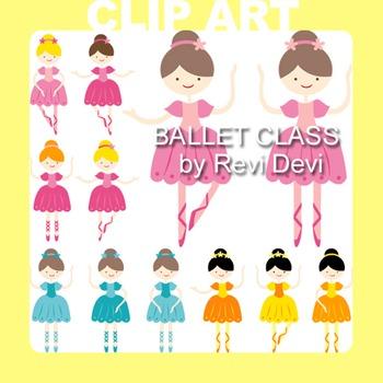 Ballet class clip art 13010 (teacher resource) ballerina i