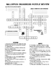 Ballistics Review Material - Worksheet + CW Puzzle