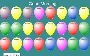 Balloon Attendance 24 Students