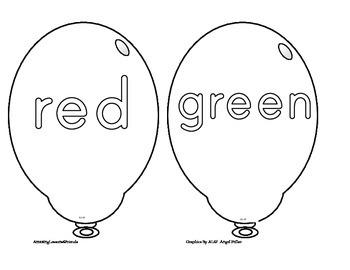 Balloon Coloring Sheets