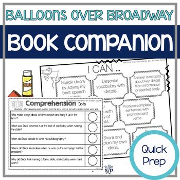 Balloons Over Broadway Quick Prep Speech Language Book Companion
