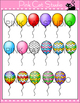Balloons: Solids and Patterns Clip Art Set - Personal & Co
