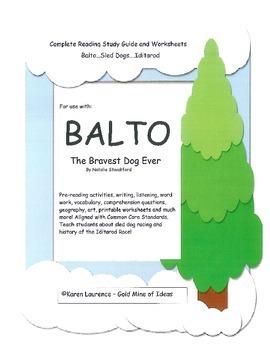 Balto - Bravest Dog Ever - complete ELA unit - Iditarod