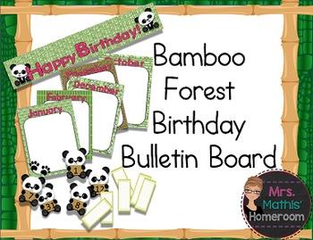 Bamboo Forest (Panda Theme) Birthday Bulletin Board Set