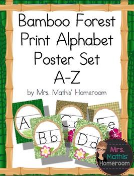 Bamboo Forest (panda theme) Print Alphabet Posters (Alphab