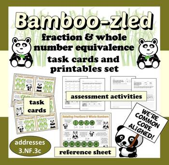 Bamboo-zled - fraction & whole number equivalence task car