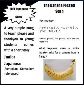 Banana Please Song and Story plus ACARA Content Descriptors