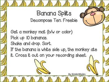 Banana Splits {Decomposing Ten}