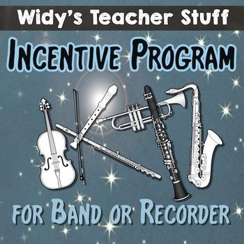 Band Incentive Program For Instrumental, Recorder or Ukele
