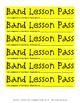 Band Lesson Passes