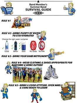 Band Member's Summer Band Survival Guide (Fallout Themed)
