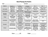 Band Playing Test Rubric