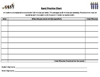 Band Practice Chart (PDF)