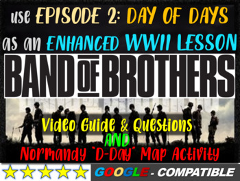"""Band of Brothers Guide & Normandy """"D-Day"""" Map Activity (35"""