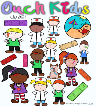 """Bandaid Clip Art: """"Ouch"""" Kids"""