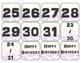 Western Bandana Calendar Numbers