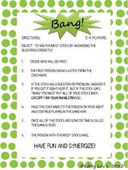 Bang!  A Multiplication Game