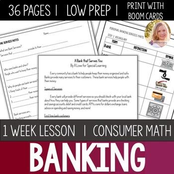 Bank Services Bundle- High School Special Education