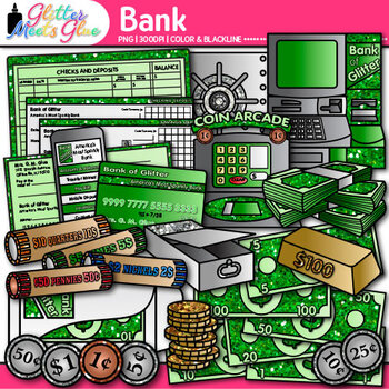 Banking Money Clip Art {Counting and Sorting, Place Value,