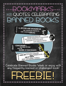 Banned Books Bookmarks