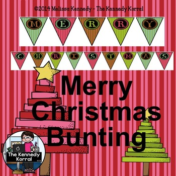 Merry Christmas Bunting {Christmas Party Banner}