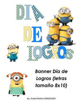 Banner Día de Logros Motivo Minions